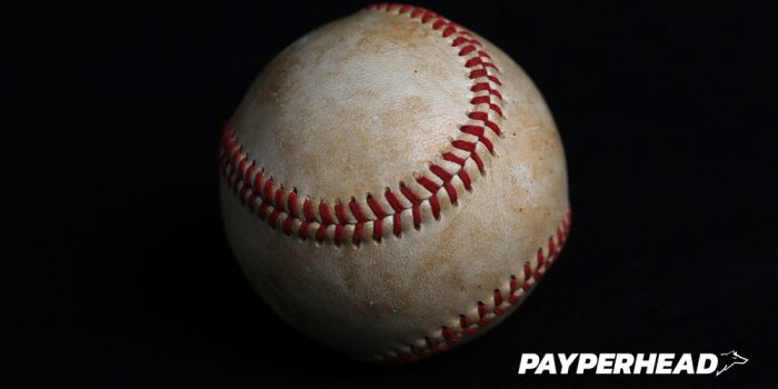 MLB Baseball on black background