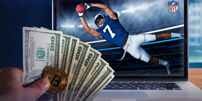 NFL Sports betting concept