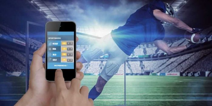 Live betting with pay per head sportsbook concept