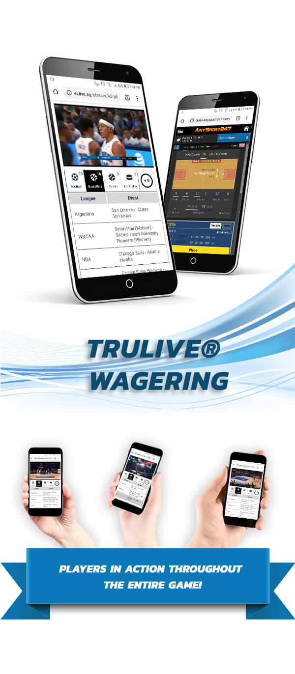 TruLive Wagering Pay Per Head Software concept