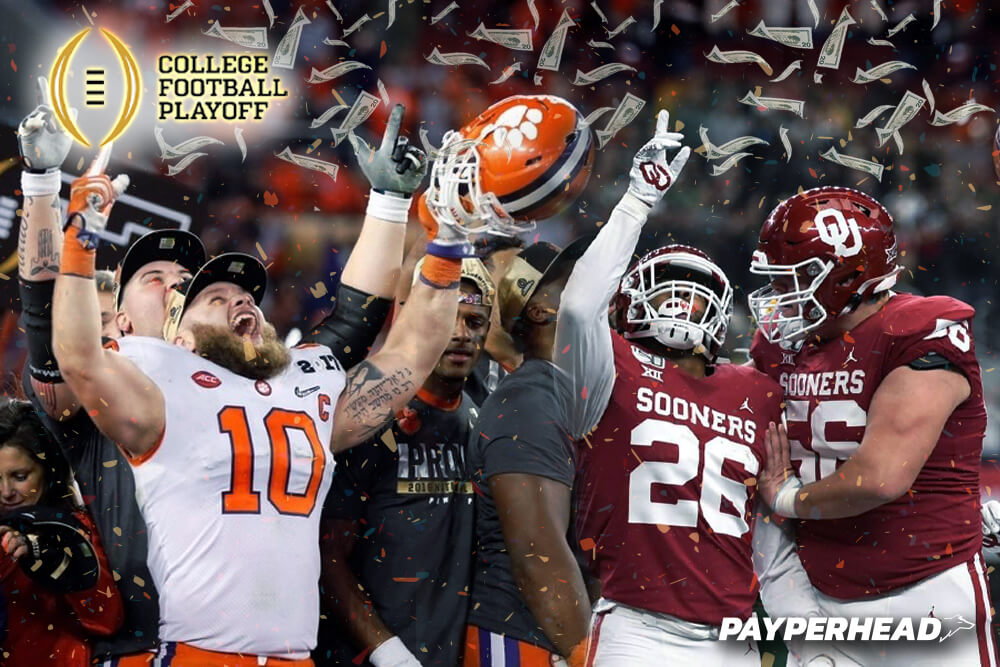 College football playoffs per head bookie concept