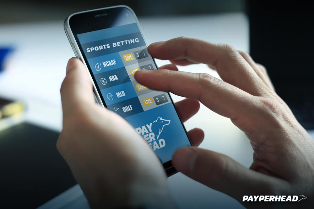 Sports wagering legalization in the US- person betting on their mobile phone